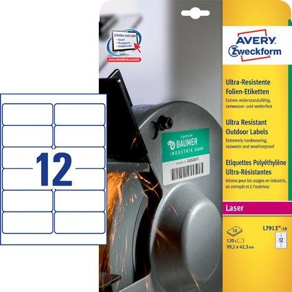 AVERY Zweckform Ultra-Resist. Folien-Etiketten, 99,1x42,3 mm