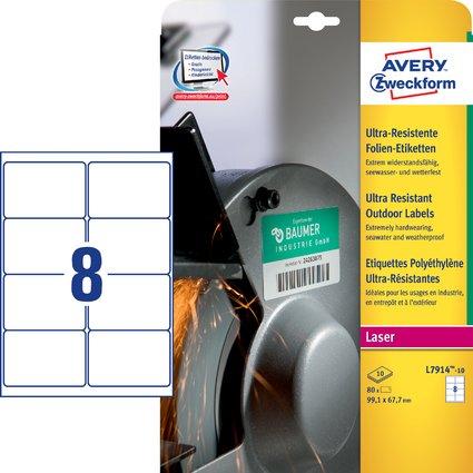 AVERY Zweckform Ultra-Resist. Folien-Etiketten, 99,1x67,7 mm