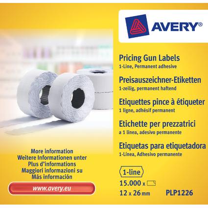 AVERY Zweckform Etiketten für Preisauszeichner, 26 x 12 mm