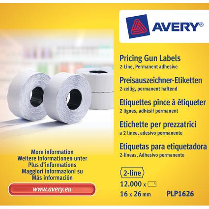 AVERY Zweckform Etiketten für Preisauszeichner, 26 x 16 mm