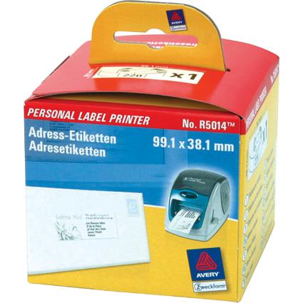 AVERY Zweckform Adress-Etiketten auf Rolle, 99,1 x 38,1 mm