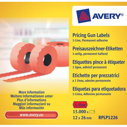 AVERY Zweckform Preisauszeichner-Etiketten, 26 x 12 mm, rot