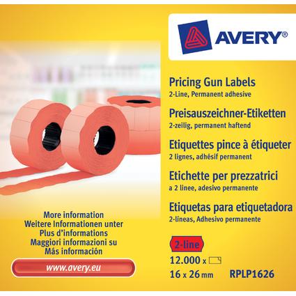 AVERY Zweckform Preisauszeichner-Etiketten, 26 x 16 mm, rot