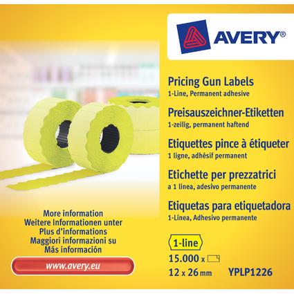 AVERY Zweckform Preisauszeichner-Etiketten, 26 x 12 mm, gelb