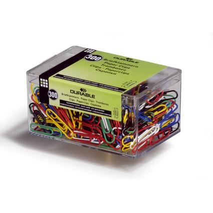 DURABLE Büroklammern, kunststoffummantelt, farbig, 26 mm