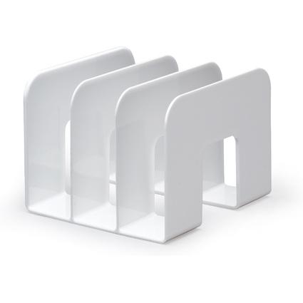 DURABLE Stehsammler TREND, Kunststoff, 3 Fächer, weiß