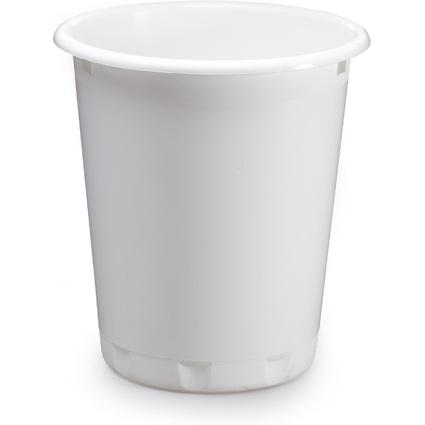 DURABLE Papierkorb BASIC, Kunststoff, 13 Liter, weiß