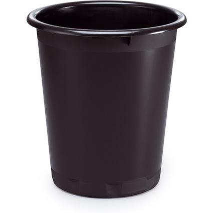 DURABLE Papierkorb BASIC, Kunststoff, 13 Liter, schwarz