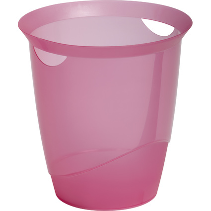 DURABLE Papierkorb TREND, 16 Liter, rosa transluzent