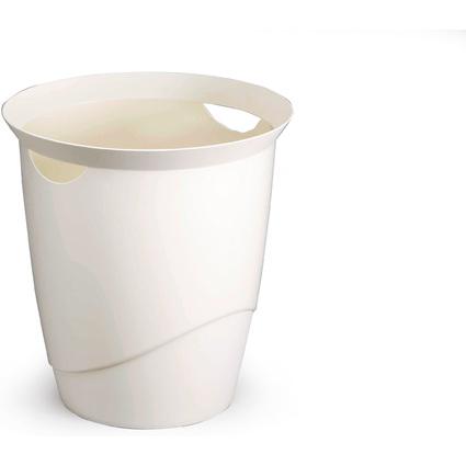 DURABLE Papierkorb TREND, 16 Liter, rund,  weiß