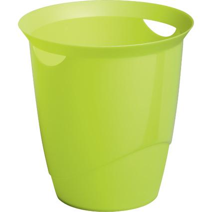 DURABLE Papierkorb TREND, 16 Liter, rund, grün