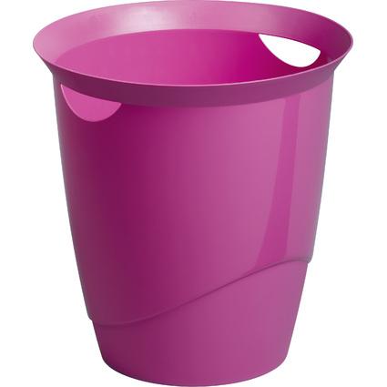 DURABLE Papierkorb TREND, 16 Liter, rund, dunkelrosa