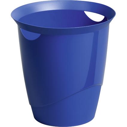 DURABLE Papierkorb TREND, 16 Liter, rund, blau