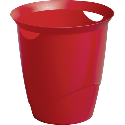 DURABLE Papierkorb TREND, 16 Liter, rund, rot