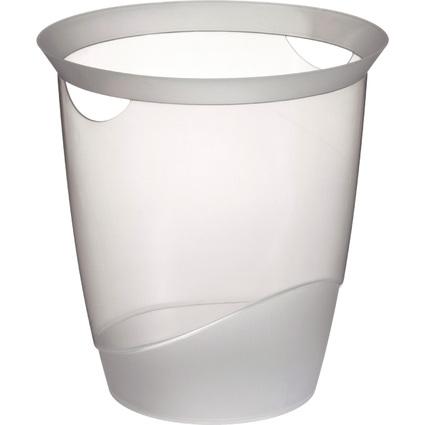 DURABLE Papierkorb TREND, 16 Liter, rund, transparent