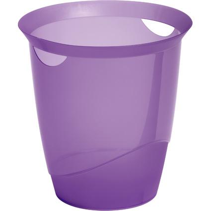 DURABLE Papierkorb TREND, 16 Liter, lila transluzent