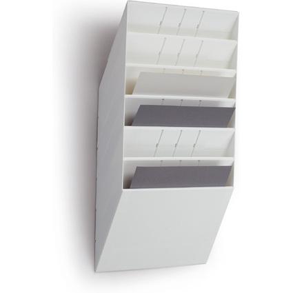 """DURABLE Wand-Prospekthalter-Set """"FLEXIBOXX 6"""", A4, 6 Fächer"""
