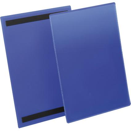 DURABLE Kennzeichnungstasche, magnetisch, DIN A4 hoch, blau