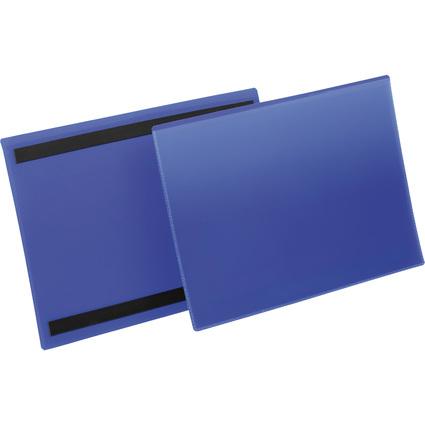 DURABLE Kennzeichnungstasche, magnetisch, DIN A4 quer, blau