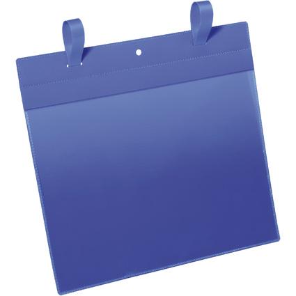 DURABLE Gitterboxtasche mit Lasche, A4 quer, blau