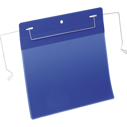 DURABLE Drahtbügeltasche, A5 quer, blau