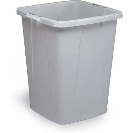 DURABLE Abfallbehälter DURABIN 90, quadratisch, grau
