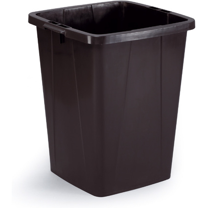 DURABLE Abfallbehälter DURABIN 90, quadratisch, schwarz