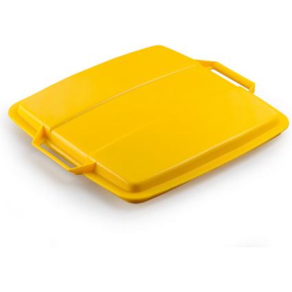 DURABLE Deckel DURABIN LID 90, quadratisch, gelb