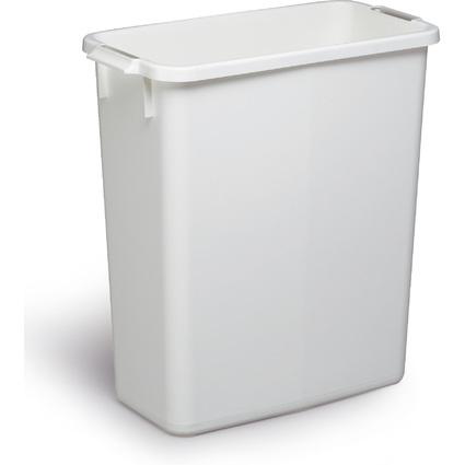 DURABLE Abfallbehälter DURABIN 60, rechteckig, weiß