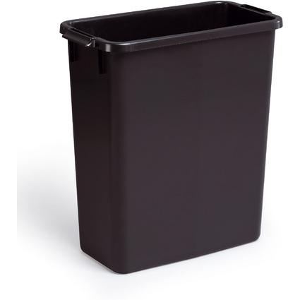 DURABLE Abfallbehälter DURABIN 60, rechteckig, schwarz