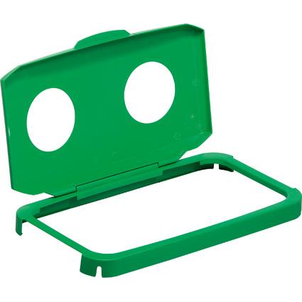 DURABLE Deckel DURABIN LID WITH HOLES 60, rechteckig, grün
