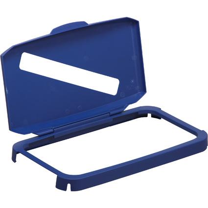 DURABLE Deckel DURABIN LID WITH SLOT 60, rechteckig, blau