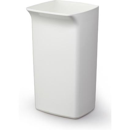 DURABLE Abfallbehälter DURABIN SQUARE 40, rechteckig, weiß