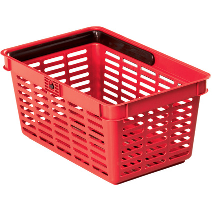 DURABLE Einkaufskorb SHOPPING BASKET 19, 19 Liter, rot