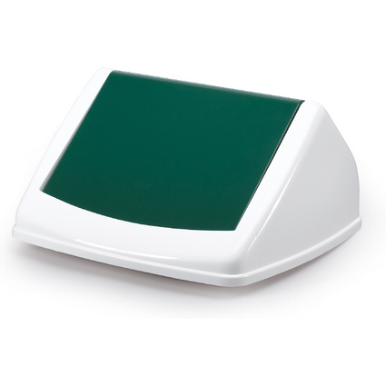DURABLE Deckel DURABIN FLIP LID SQUARE 40, weiß/grün