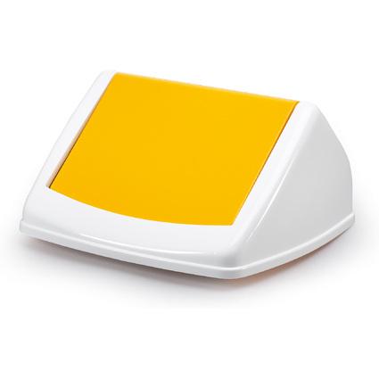 DURABLE Deckel DURABIN FLIP LID SQUARE 40, weiß/gelb
