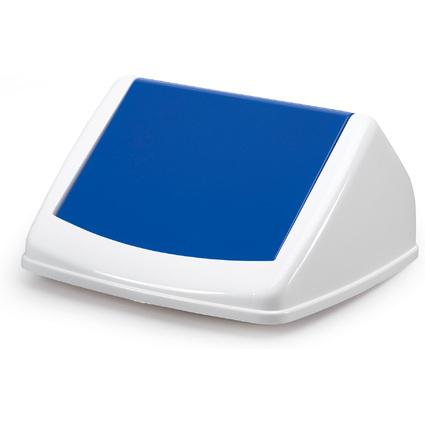 DURABLE Deckel DURABIN FLIP LID SQUARE 40, weiß/blau