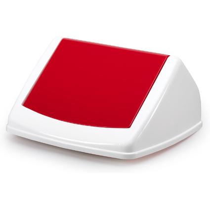 DURABLE Deckel DURABIN FLIP LID SQUARE 40, weiß/rot