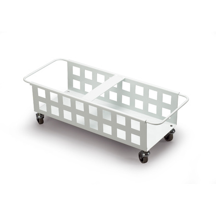DURABLE Fahrwagen DURABIN SQUARE TROLLEY DUO 40, weiß