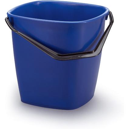 DURABLE Putzeimer BUCKET, 14 Liter, rechteckig, blau