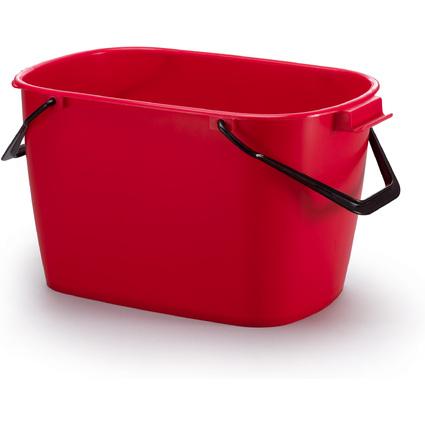 DURABLE Putzeimer BUCKET, 28 Liter, rechteckig, rot