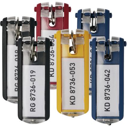 DURABLE Schlüsselanhänger KEY CLIP, farbig sortiert