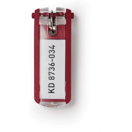 DURABLE Schlüsselanhänger KEY CLIP, rot