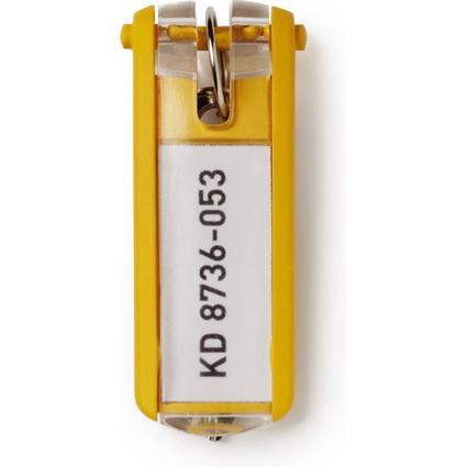 DURABLE Schlüsselanhänger KEY CLIP, gelb