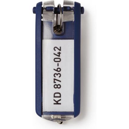 DURABLE Schlüsselanhänger KEY CLIP, blau