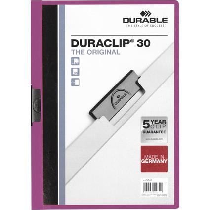 DURABLE Klemmhefter DURACLIP ORIGINAL 30, DIN A4, lila
