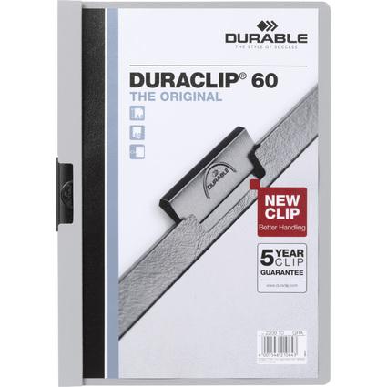 DURABLE Klemmhefter DURACLIP ORIGINAL 60, DIN A4, grau