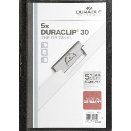 DURABLE Klemmhefter DURACLIP ORIGINAL 30, DIN A4, schwarz