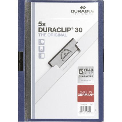 DURABLE Klemmhefter DURACLIP ORIGINAL 30, DIN A4, dunkelblau