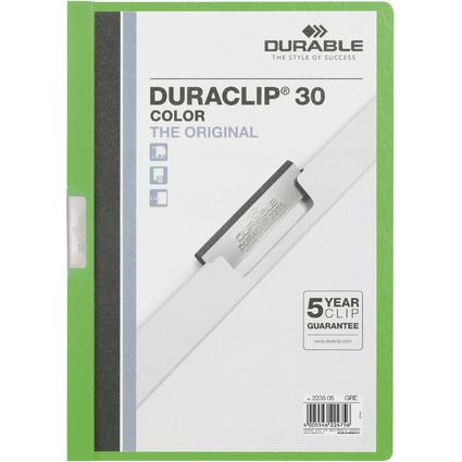 DURABLE Klemmhefter DURACLIP COLOR 30, A4, grün-transluzent